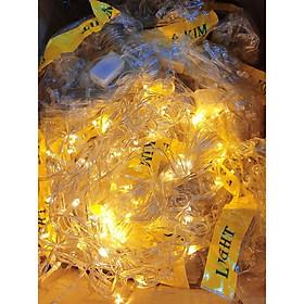Đèn led trang trí ko chớp, cắm điện dài ~8m, mầu vàng, loại đẹp