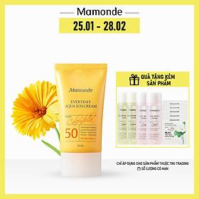 Kem Chống Nắng Dưỡng Ẩm Dịu Nhẹ Với Mọi Loại Da Mamonde Everyday Aqua Sun Cream SPF 50+ Pa++++ (50ml) 110651168