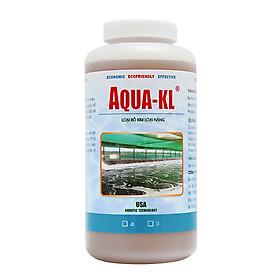 AQUA-KL - Vi sinh HẠ PHÈN, KHỬ KIM LOẠI NẶNG trong ao nuôi thủy sản - Chai 1 quarter (≈ 1 lít)