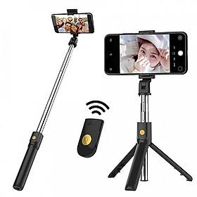 Gậy Selfie Đế 3 Chân Tặng Nút Điều Khiển Từ Xa Bluetooth