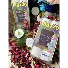 Bông Tẩy Trang Mihoo 200 Miếng Bông Tròn