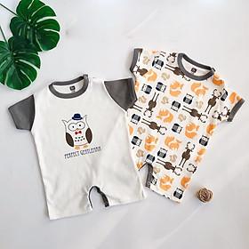 set 2 áo liền quần cho bé sơ sinh, quần áo cho bé sơ sinh mùa hè