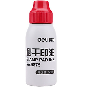 Effective (deli) 9875 seconds dry ink 9875 (red)