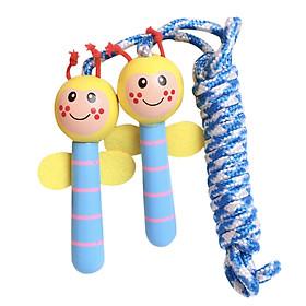 Bộ nhảy dây thể dục siêu dễ thương cho bé - Tay cầm bằng gỗ an toàn bền đẹp tiện lợi - Mẫu ngẫu nhiên