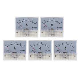 5pcs Plastic Analog Panel Ammeter Current Meter Analog Electrical Current Tester