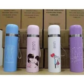Bình Giữ Nhiệt Nóng Lạnh Inox 500ml Mug Mouse – Đồ dùng uống nước đi phượt tiện dụng