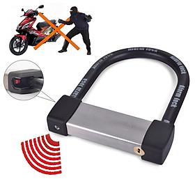 Khóa chữ U chống trộm chịu lực tốt cho xe máy - Khóa chữ U báo động âm thanh chống trộm LK605