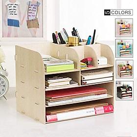 Kệ bàn học hình hộp - bàn làm việc nhỏ gọn, tiện ích - Kệ đựng hồ sơ tài liệu để bàn - Kệ sách mini - Kệ lưu trữ tài liệu giấy A4, A5 bằng gỗ - Vui lòng chọn Mẫu