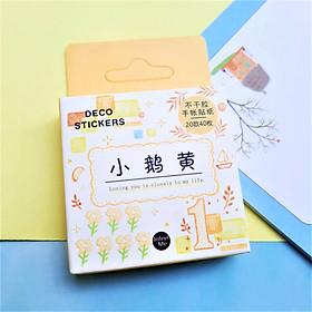 Hộp 40 Miếng Dán Sticker Trang Trí Trái Cây - Màu Vàng