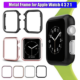 1PC Aluminum Protective Case for For iWatch Apple Watch ( No Watch ) 40mm 44mm Screen Protectors Bumper Frame For iWatch Apple Watch 4 3 2 1 Aluminum Protective Case Watch Cover