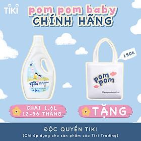 Nước Giặt Xả Pom Pom chuyên biệt dành cho bé năng động (12 – 36 tháng) - Chai 1,6L