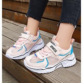 Giày thể thao bé gái dạng lưới thoáng mát , êm chân - giày đi học bé gái  Mẫu mới nhất TTL53