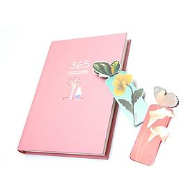 Sổ Kế Hoạch Nhật Ký 365 Ngày Every Day A5 Cao Cấp Tặng Kèm 2 Bookmark Hình Bướm Ngẫu Nhiên