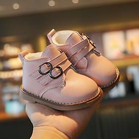 Giày cổ cao lót lông ấm áp cho bé gái 1 - 3 tuổi phong cách Hàn Quốc GE94