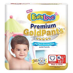 Tã Quần BabyLove GoldPants XL12 (Gói 12 Miếng)