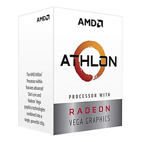 Bộ Vi Xử Lý CPU AMD Athlon 240GE Processor with Radeon Vega 3 Graphics - Hàng Chính Hãng