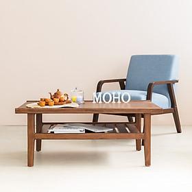 Bàn Sofa – Bàn Cafe - Bàn Trà Gỗ Thông MOHO VLINE 501 (Nâu)