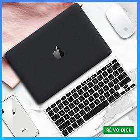 Combo Case, ốp kèm phủ phím Macbook đủ dòng Màu đen - Nhựa ABS cao cấp chống va chạm (Tặng Nút Chống Bụi)