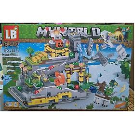 Lắp ráp xếp hình My World LB571 có 585 pcs-Lắp ghép ngôi nhà siêu nhân