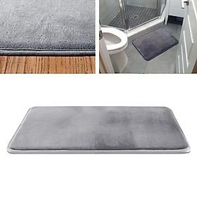 Memory Foam Bath Mat Non Slip Absorbent Mat  Vevelt Bath Mat  Blue 40x60cm