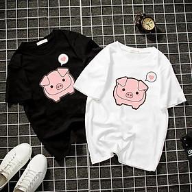Áo thun Nam Nữ Không cổ CON HEO CIMT-0017 mẫu mới cực đẹp, có size bé cho trẻ em / áo thun Anime Manga Unisex Nam Nữ, áo phông thiết kế cổ tròn basic cộc tay thoáng mát
