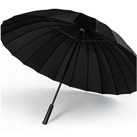 Ô dù đi mưa đi nắng cỡ lớn 24 nan chống lật chống uv cao cấp màu đen