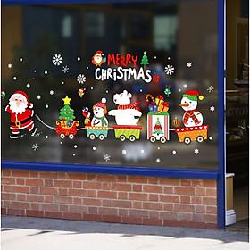 Decal Trang Trí Giáng Sinh Ông Già Noel