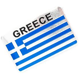 Sticker hình dán metal cờ Hy Lạp Greece