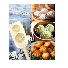 Khuôn Làm Bánh Bao 2 Bánh 7.3cm và 6cm Tiện Dụng
