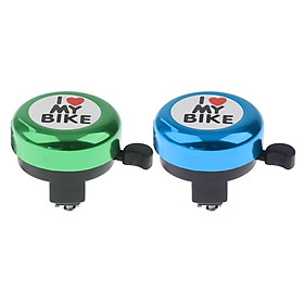 2x Metal Bike Bell Horn Women Clear Sound Alarm Scooter Bicycle Bell Bike Accs