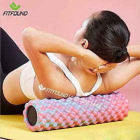 Con lăn foam roller 45cm massage giãn cơ - dãn cơ trị liệu mát xa sau tập gym yoga thể thao thể hình