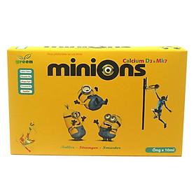Minions Calcium D3 và MK7 hôp giúp bổ sung canxi và các vitamin giúp phát triển xương ở trẻ nhỏ