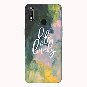 Ốp lưng điện thoại Realme 3 hình Life is Lovely - Hàng chính hãng
