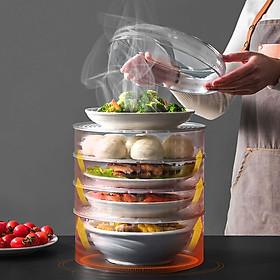 Lồng bàn thông minh 5 tầng, tặng kèm dao thái đầu nhọn siêu sắc công nghệ mới, không bám thực phẩm