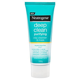 Neutrogena Deep Clean Purifying Clay Cleanser & Mask 100g