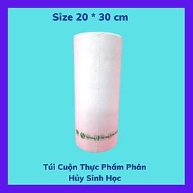 1 Kí Túi Đựng Thực Phẩm Tự Hủy Sinh Học - Dạng Cuộn - Màu Trắng Sữa - Size 20 * 30 cm / 1 Kilogram of Bio-degradable Plastic Bag- In Rolls - Color Milk White - Size 20 *30 cm