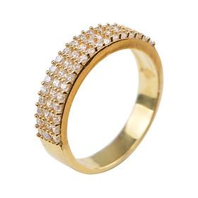 Nhẫn 3 Hàng Hột Gix Jewelry GR024 - Vàng