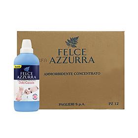 Thùng nước xả vải đậm đặc hương nước hoa Ý cho da nhạy cảm Felce Azzurra Sweet Cuddles 1.025L x 12