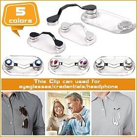 Portable Magnetic Eye Glass Holder Spectacle Sunglasses Clip Badge Hang Magnet Hook