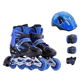 Bộ Giày Trượt Patin Đại Nam Sport T20096 Bánh  Phát Sáng + Kèm bảo hộ (Chân,tay, mũ bảo hiểm)