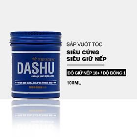Sáp vuốt tóc nam DASHU For Men Premium Ultra Holding Power Siêu cứng Siêu giữ nếp 100ml JN-SAP01