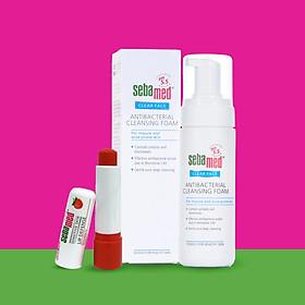 [Combo] Son dưỡng môi có màu Sebamed SPF30 giao màu ngẫu nhiên và Sữa rửa mặt tạo bọt kháng khuẩn Sebamed pH5.5 (Nhập khẩu 100% từ Đức)