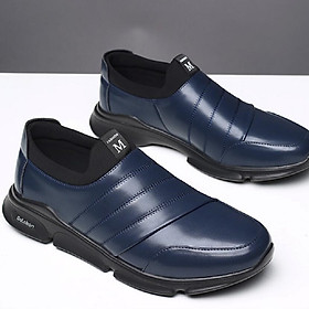 Men's fashion lightweight  breathable wear-resistant leather casual shoes