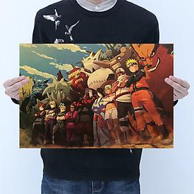Tranh  Naruto và các người đứng đầu Poster tấm áp phích treo tường giấy Kraft [ B029 ]