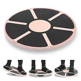 Wooden Wobble Balance Board Skidproof Exercise Balance Stability Trainer