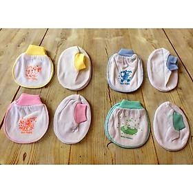 Set 5 đôi bao tay chân MH trắng cổ bo cho bé sơ sinh(0-6 tháng) - GIAO MÀU NGẪU NHIÊN