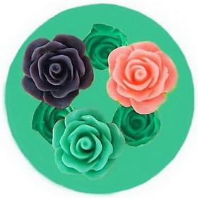 Khuôn rau câu silicon 3 hoa hồng