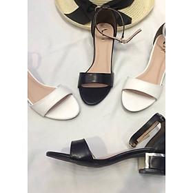 Sandal Da Lì Bít Gót
