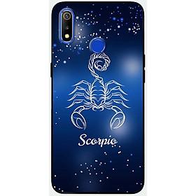 Ốp lưng dành cho Realme 3 Pro mẫu Cung hoàng đạo Scorpio (xanh)