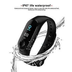 Smart Bracelet M3 Plus Sport Bracelet 0.96 TFT Touch Screen BT 4.0 Fitness Tracker Heart Rate/Blood Pressure Monitoring Pedometer-4
